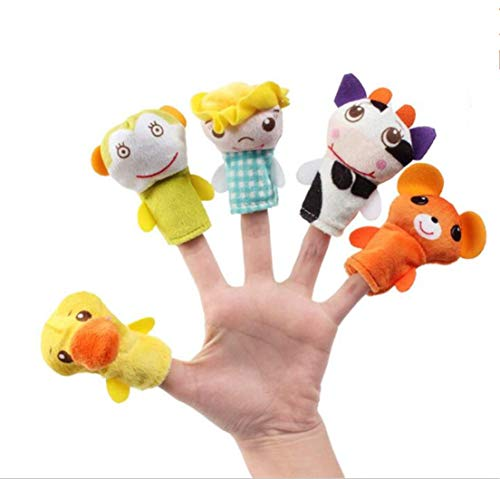 Tmrow Kids Craft Kits Sewing Crafs for Kids-5 pcs Jungle Animals Hand Puppet Kit