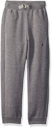 Nautica Toddler Boys' Fleece Pants, Sullivan Medium Grey Heather, 2T