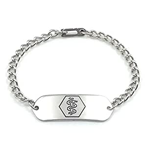 Medical ID Bracelet IDB-11 - Stainless Steel - Non Allergenic