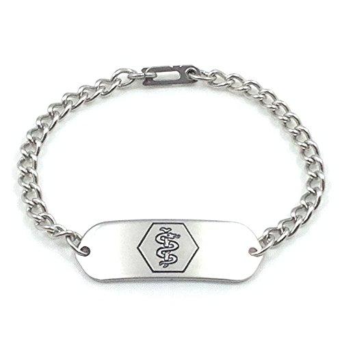 MakeMeThis Medical ID Bracelet IDB-11 - Stainless
