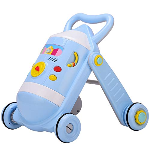 BABYSTCWJ Walker Toy,Baby Kids Walkers Toy Cartoon Walker Stroller Multifunctional Baby Toddler Musical Toy