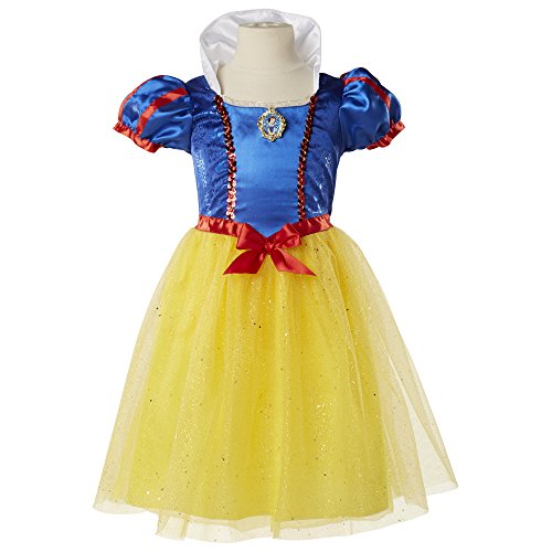 [Disney Princess Snow White Dress Size 4-6X] (Snow White Dress Costumes)