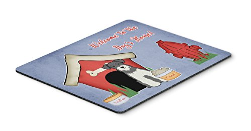 (Caroline's Treasures Dog House Collection Schnauzer Salt & Pepper Mouse Pad, Multicolor, 7.75x9.25 (BB2808MP))