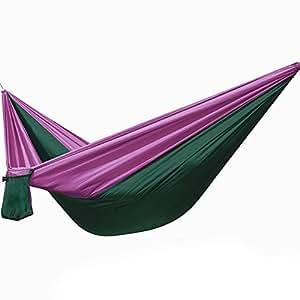 yhanonal Hamaca TRAG Baren Parachute Hamaca Picnic Manta Toalla Hamaca Outdoor Trekking & Camping Hammock 230* 90cm Soporta hasta 300kg, morado