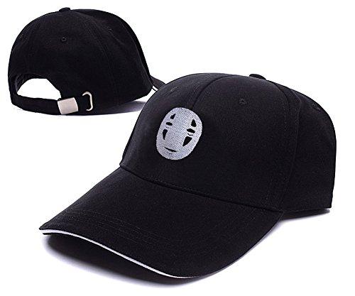 JIUWEI Japanese Anime Hayao Miyazaki Spirited Away No Face With Mask Logo Adjustable Baseball Caps Unisex Snapback Embroidery Hats
