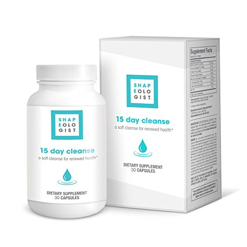 Shapeologist 15 Day Cleanse - Support Detox, Healthy Digestive System for Men and Women, Clean Colon, Soft Cleanse for Renewed Health, 30 Capsules