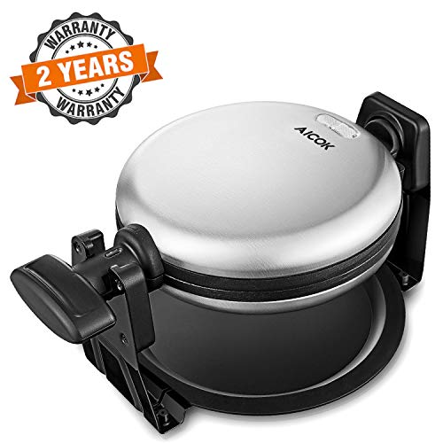 Why Should You Buy AICOK Flip Belgian Waffle Maker with Non-Stick Plates, Double-sided Uniform Heating, Stainless Steel, Removeable Drip Tray, Quick & Easy
