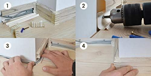 1 x Au/ßenecke Eiche Millenium 62mm zum Dekor Lamiat Dekore Laminatleisten Fussleisten aus Kunststoff PVC Eiche Millenium DQ-PP