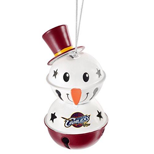 Cleveland Cavaliers Snowman Bell Ornament