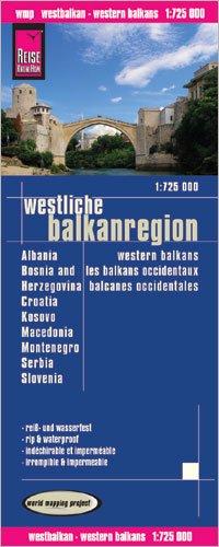 Croatia, Slovenia, Serbia, Montenegro, Bosnia-Herzegovina, Macedonia & Albania 1:725,000 Travel Map REISE