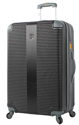 Lucas Luggage Hard Case Large 31' Expandable Suitcase With Spinner Wheels (31in, Tread Black)