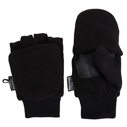 Thinsulate Fleece Convertible Fingerless Mittens