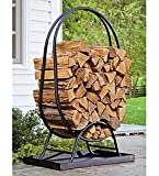 Large Tubular Steel Oval Wood Rack With Cover