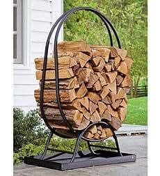 Amazon Tubular Steel Oval Wood Rack With Cover