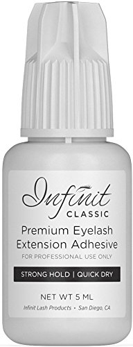 Eyelash Extension Glue - Classic Eyelash Glue for Individual Eyelashes | 3-5 Sec Drying Time | Retention - 7 Weeks | Strong Bond Lash Glue | Black Eyelash Glue For Professional Use Only | 5ml