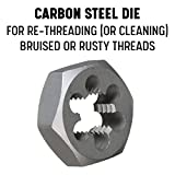 """Drill America Carbon Steel Hex Threading Die (#4-40 - 5""""-8, m1.6x.35 - m50x1.5, Standard and Left Hand) Bright Finish, DWT Series"""
