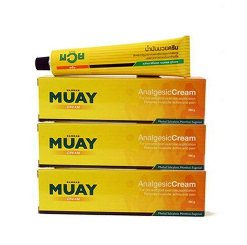 Muay Thai Boxing Liniment Cream Muscular Pains Relief (Namman Muay) Pack3 l (30 GR) ()