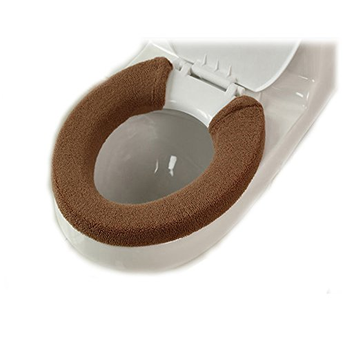 Soft Warm Thicken Toilet Seats Covers (Coffee)