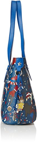 Piero Giudi Chiara Tote shopping Bag Con Zip Prussian blue