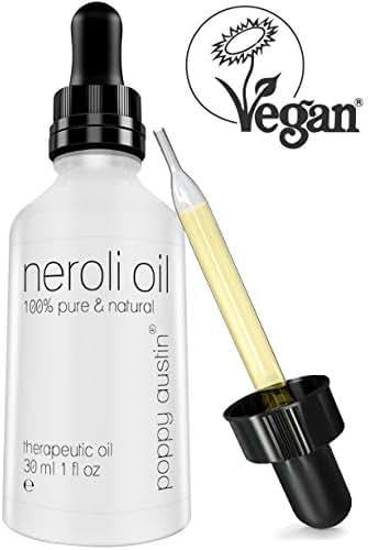 Neroli Essential Oil - 1 oz Bottle - Vegan Certified, Cruelty-Free, Organic, 100% Pure Undiluted Citrus Aurantium, Therapeutic Grade Neroli Oil by Poppy Austin
