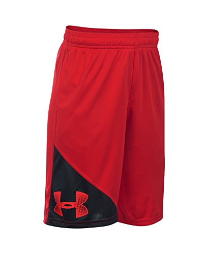 Under Armour Boys' Tech Prototype Shorts, Red , Youth X-Large