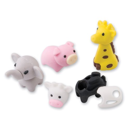 Assorted 3-D Animal Erasers - 48 per Pack
