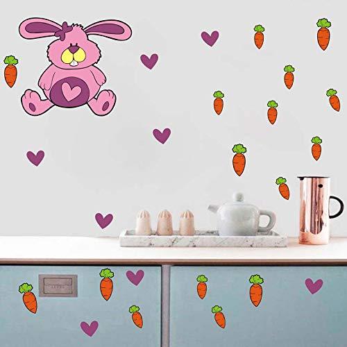 nkfrjz Pegatinas de Pared de Zanahorias para Habitaciones de niños ...