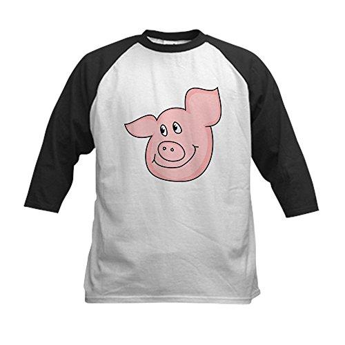 CafePress - cute piggy Kids Baseball Jersey - Kids Cotton Ba