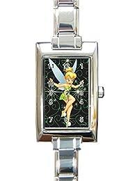Tinkerbell Custom Rectangular Italian Charm Watch Limited Edition