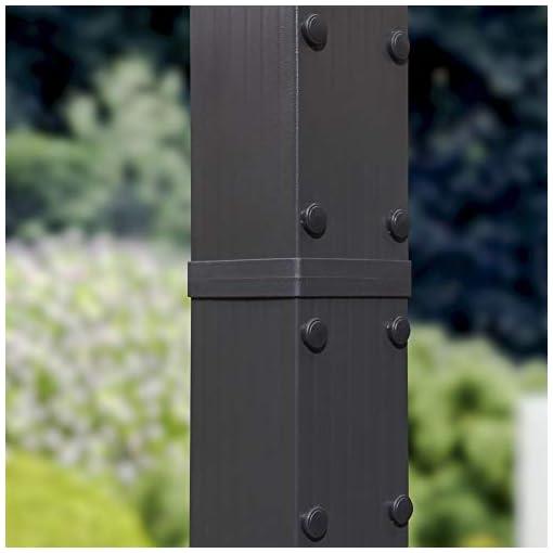 Garden and Outdoor PURPLE LEAF 10′ X 13′ Aluminum Outdoor Retractable Pergola Canopy Deck Garden Grape Trellis Pergola Patio Gazebo, Gray pergolas