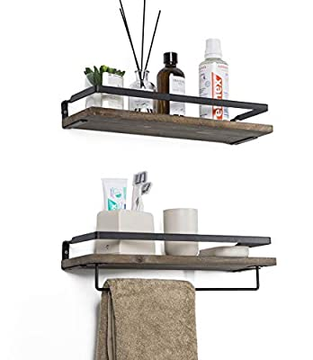 Soduku Floating Shelves Wall Mounted Storage Shelves for Kitchen, Bathroom,Set of 2