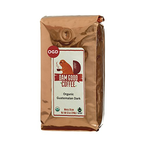 Dam Good Coffee – Guatemalan Dark Roast – Fair Trade – Certified Organic – Whole Bean – Single Country Origin – Bulletproof Coffee Ready – Rich Body – Smooth Spicy Chocolaty Undertone – 12 Oz