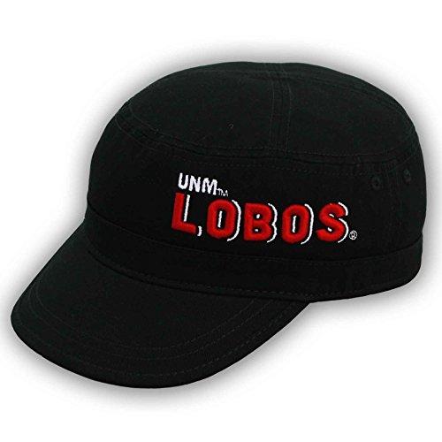 NCAA New Mexico Lobos Adjustable Military Canvas Cap, Black