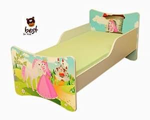 Best For Kids cama de niños 8tamaños–33diseños + regalo gratis, Princesa, 70x140
