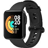 Xiaomi Mi Watch Lite – Relógio inteligente preto, rastreador de atividades com monitor de frequência cardíaca, monitor de ati