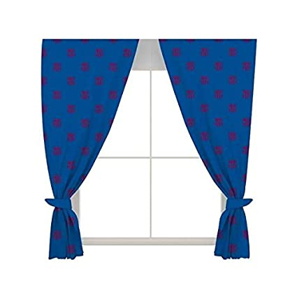 Amazon Com Fc Barcelona Official Ready Made Repeat Crest Curtains