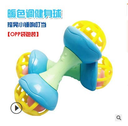 Baby Rattle Ball Toy Colorful Newborn Hand Catch Shaker Bell Ring Toy S3