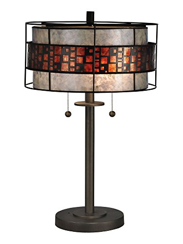 Bronze Table Lamp Framed Art - Dale Tiffany TT13199 Cobblestone Tiffany Table Lamp Bronze