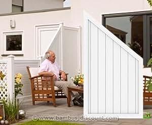 """'Valla Element cierre color blanco, """"Longlife Riva 164x 90x 90cm de plástico–Visión Protección, visión Elementos, para ventana pared, protección contra el viento"""