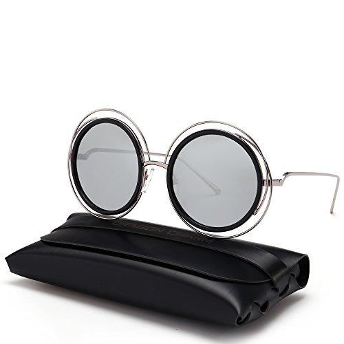 DRAGON CHARM Oversized Round Sunglasses Women Gradient/colored Lens - Charm Sunglasses & Charm