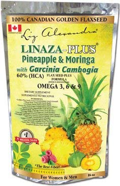 Linaza Plus Pineapple Moringa with Garcinia Cambogia 16 oz