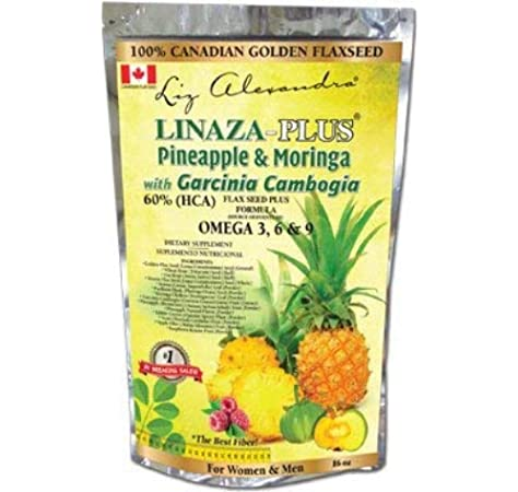 Amazon Com Linaza Plus Pineapple Moringa With Garcinia Cambogia 16 Oz Everything Else