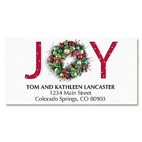 Christmas Address Labels.Amazon Com Great Joy Deluxe Christmas Address Labels Set