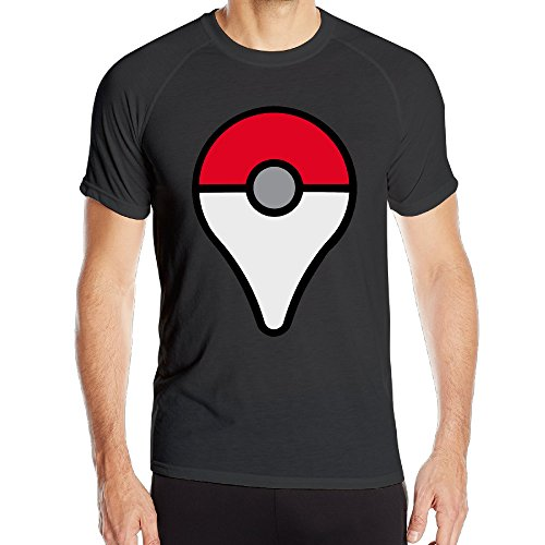 EWIED Men's Pokemon GoQuick Dry Athletic Short Sleeve Black SizeXXL (Kung Fu Lou Costume)