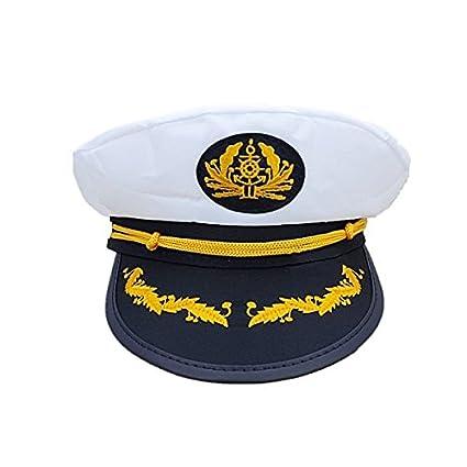 Buy Festiko Captain Skipper Sailor Hat Black and White for
