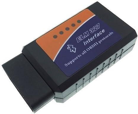 Bluetooth Interfaz de diagnostico Software ELM-327 CAN Bus OBD 2 Enchufes Coches
