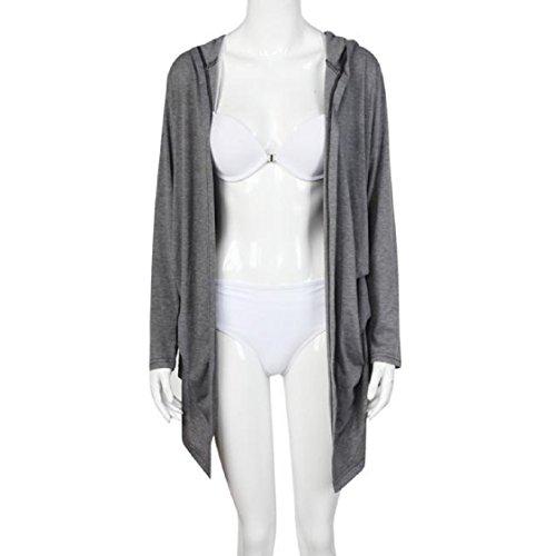 Sunfei Autumn Women Long Sleeve Cardigan Loose Outwear Jacket Coat (S)