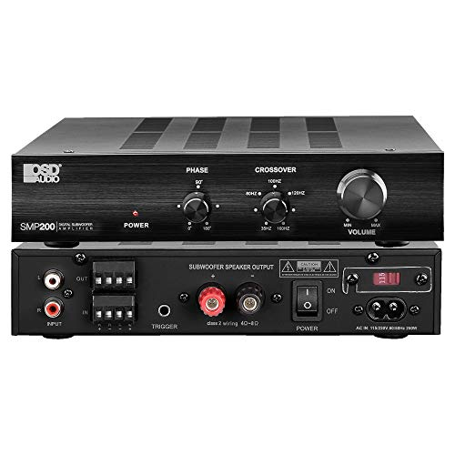 OSD Audio SMP200 Class D Digital Subwoofer Amplifier Rated at 200W Max/120W RMS