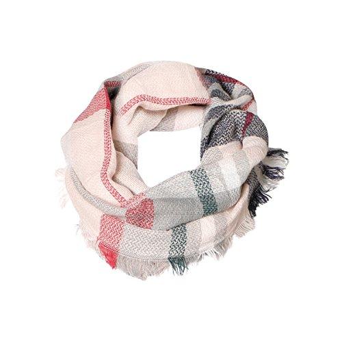 Soft Pink Tartan Infinity Scarf Funky Monkey Fashion Warm Cozy Warm Neck Scarves (Striped Red Monkey)