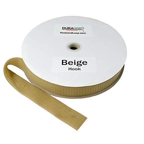 2'' - DuraGrip Brand Sew-On Hook - Beige | Hook Side Only, Loop Side Sold Separately by DURA-GRIP